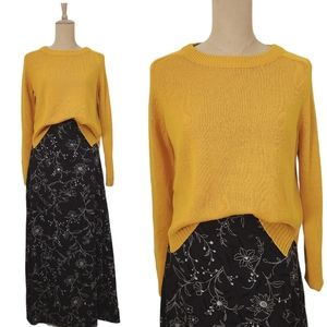 H&M Divided Mustard Yellow Knit Pullover Sweater